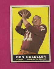 1961 TOPPS # 125 REDSKINS DON BOSSELER  EX-MT CARD (INV# A4114)