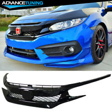 For 16-18 Honda Civic FK8 Type-R ABS Front Bumper Grille Hood Mesh Grill Guards