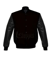 top Quality varsity Lettermen Wool Jacket with Leather Sleeves