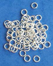 100 Chapado en Plata Anillos de Salto de 5mm, las conclusiones para la fabricación de joyas Artesanías