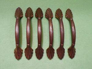 Set of 6 Amerock BP1333 Nat. Elegance shell drawer cabinet pull Burnished Brass