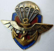 Insigne ARGENT MASSIF Indochine 7° BCCP BATAILLON COLONIAL COMMANDO PARACHUTISTE