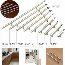 10 PCS Brushed Nickel Kitchen Cabinet Handles T Bar Pulls Stainless Steel 2