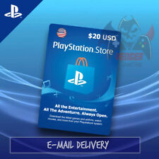 Playstation Network Card PSN $20 USD Instant Email Delivery 24/7/365 USA