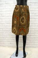 Gonna MAX MARA Donna Taglia Size 36 Skirt Shorts Woman Vita Alta Cotone Vintage