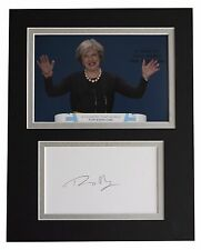 Theresa May Signed Autograph 10x8 photo display Prime Minister AFTAL & COA
