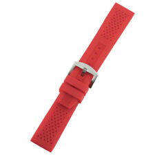 18mm/20mm/22mm/24mm Watch Strap Silicone Rubber Band Replacement Pin Buckle