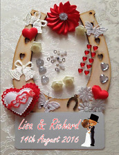 Personalised Wedding Brides Lucky Horseshoe DIY craft kit Wedding Day Gift