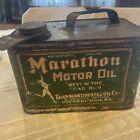 Rare Vintage Antique Marathon Motor Oil Tin Spout 1 Gallon Can Pittsburgh PA