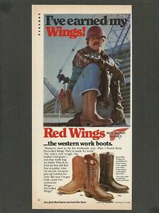 RED WINGS...the western work boots  - 1982 Vintage Print Ad
