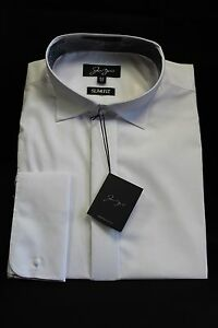 SLIM FIT VICTORIAN WING COLLAR WHITE SHIRTS DOUBLE CUFF