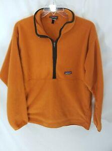 Patagonia Synchilla 1/2 Zip Orange Fleece Mens XL