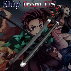 """30"""" Kimetsu no Yaiba Demon Slayer Kamado Tanjiro Sword Blade Cosplay Prop"""