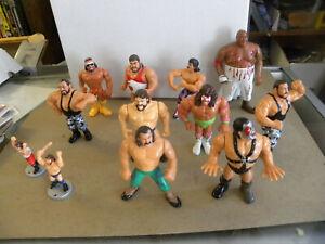 1990 Titan Sports Hasbro 14 WWF Figures HULK HOGAN Hacksaw AX Earthquake + jw