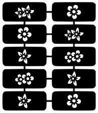 Floral Nail Art Vinyl Stencil Guide Sticker Manicure Hollow Template