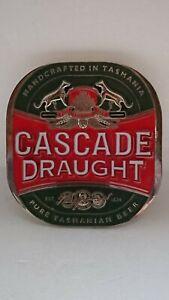 RARE Cascade Draught Metal Beer Tap Top Topper Mancave Logo Badge Decal