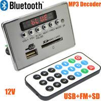 12V LED Car Bluetooth Wireless MP3 Decoder Board Audio Module USB SD TF FM Radio