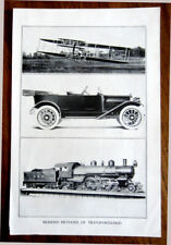 Modern Methods of Transportation - Antique Early 20th Century Photo Print