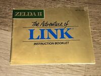 Zelda II 2 Adventure of Link Instruction Manual Booklet Nintendo Nes Authentic