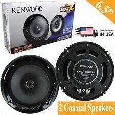 "2x Kenwood KFC-1666S 6.5"" 300W 2-Way Car Audio Stereo Door Coaxial Speakers"