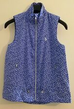 Polo Ralph Lauren Vineyard Floral Gilet Vest Jacket Blue Size XS -