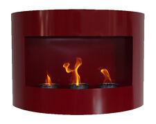 Cheminée à gel bio éthanol Riviera Rouge cheminée murale en acier thermopoudré