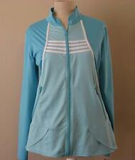 Pure Lime womens Med sculpted jacket scuba seafoam white athletic tennis NEW