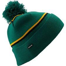 Burton Marcos Pom Pon Beanie Hat Ski Snowboard Murphy Green