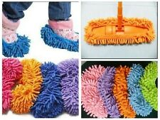 UK Chenille Shoe Covers Cleaning Slippers Lazy Drag Mop Eco Gift Mother