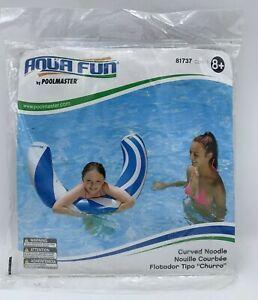 NEW Aqua Fun Poolmaster Inflatable Curved Swimming Pool Noodle Float #81737 NIP