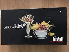 More details for falstaff silver plated post bowl & flower vase arrangement  gift set