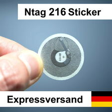 1-25 Stk. NFC Sticker NTag216, 888 Byte - tag tags für Android & iPhone DE