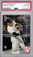 2017 TOPPS NOW AARON JUDGE YANKEES ROOKIE CARD #91 PSA 10