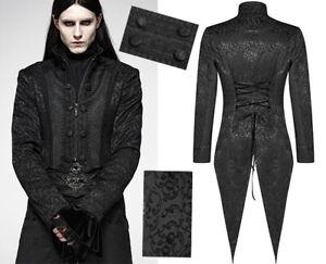 Veste queue-de-pie jacquard gothique victorien mariage corset PunkRave Homme