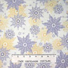 Christmas Fabric - Celebrate the Season Cream Snowflake Quilting Treasures YARD