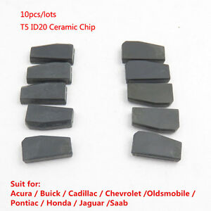 10x T5-ID20 Blank Transponder Ceramic Chip for Car Keys Can Change to ID11,12,13