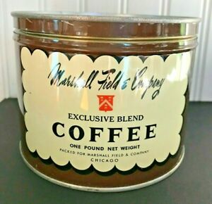 Vintage Marshall Field & Company Metal Coffee Can Field's Tin Chicago Canister