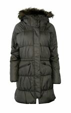 NWT Columbia M MD SPARKS LAKE LONG Insulated Women's Jacket Fur Hood GREY $220