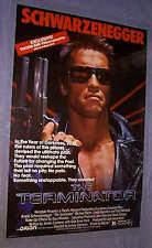 Original 1984 TERMINATOR RARE VIDEO 1 sheet Rolled NEAR MINT Schwarzenegger