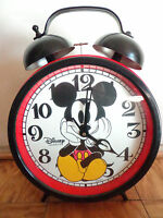 Vintage Walt Disney Mickey Mouse giant red wall floor desk clock