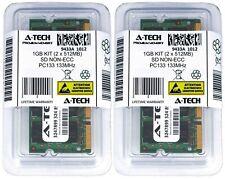 1GB 2 x 512MB SD Laptop SODIMM Modules 133 SDRam Notebook 144-pin Memory Ram Lot