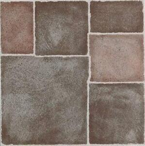 Terracotta Style Floor Tiles Self Adhesive Vinyl Flooring Kitchen Bathroom 1m²