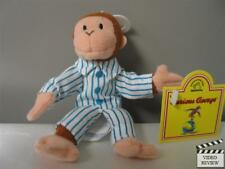 Curious George in PJs plush finger puppet; Applause NEW