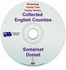 Genealogy England Somerset Dorset counties books DVD