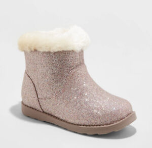 Toddler Girls' Alani Faux Fur Shearling Boots - Cat & Jack™ Multicolored Choose