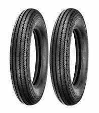(2) Shinko 5.00-16 Classic 270 Front & Rear Tire Set For Harleys Customs Bobbers