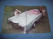 1969 Lincoln Mark III Dual-Cowl Phaeton Factory Concept Custom Vintage Article