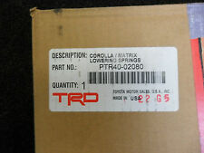 Toyota Corolla And Matrix TRD Lowering Springs (4) 09-13 PTR40-02080 New Genuine