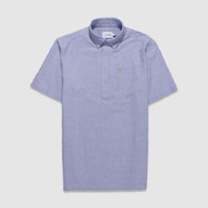 Farah Teller Pale Light Blue Casual Short Sleeve Shirt Casual Fit XS S New BNWT