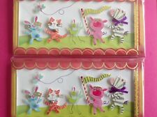 L3 Lot of 2 Paper Magic All Occasion Greeting Cards, Child, Music, Animals